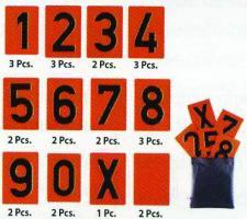 CHIFFRES SEUL POUR PLAQUE ADR 93x135 Galva