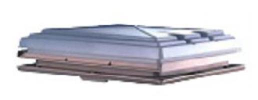 LANTERNEAU 400X400MM  BEIGE AVEC CADRE+MST+STORE TOIT PLAT