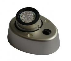 SPOT LED 12V CHROME MAT AVEC LEDS BLANCS MODELE EN APPLIQUE