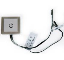 SENSOR 12VDC MAX 30W AVEC DIMMER CHROME MAT 50X50MM A VISSER OU A COLLER-Spot LED
