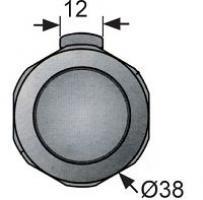 BOUTON PLASTIQUE M1-2A-15-1 CHROME
