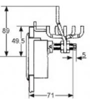 LOQUET A COMPRESSION M1-25-81-58 AVEC SERRURE CAME E3-28-201-24