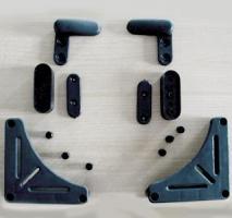 KIT ATTACHE TABLE PLASTIQUE GRIS SE COMPOSANT DE 8 PIECES-Accessoires pour pieds