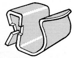 AGRAFE CABLE 6-9 - TOLE 2 à 7 MM