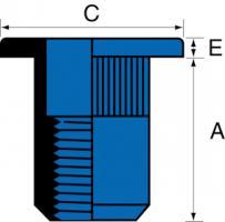 ECROU ACIER TP M10.35 SER.0.7/3.5MM